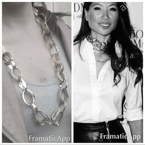 .NWT Monika Chiang statement silver chain necklace